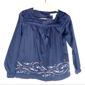 Janie And Jack Embroidered Long Sleeve Tunic Top